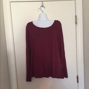 NWT top cranberry light weight